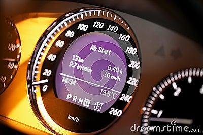 Speedometer digital display