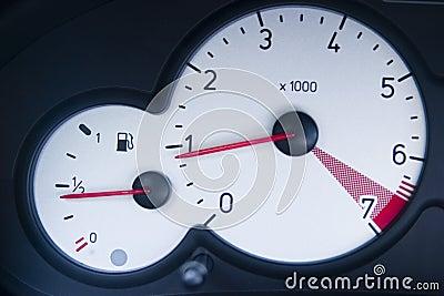 Speedometer and gas gauge