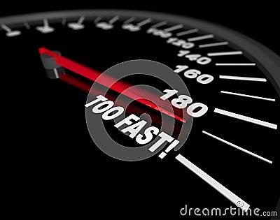 Speedometer Going Too Fast Stock Photo Image 11058210