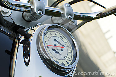 Speedometer on motocycle