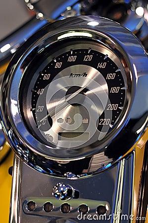 Speedometer of motorbike