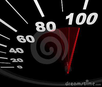 Speedometer - Racing to 100 MPH