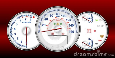 Speedometer and RPM gauge cluster