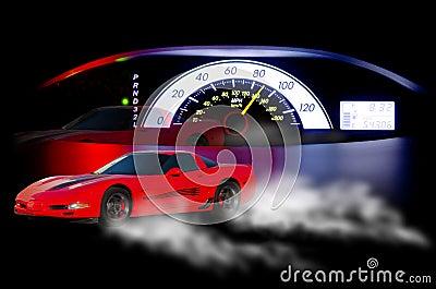 Speedometer sport car speed concept