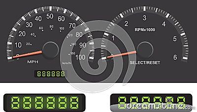 Speedometer, Tachometer, Odometer