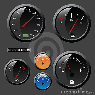 Speedometer vector set