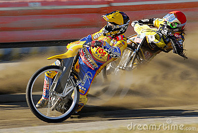 Speedway riders Editorial Stock Photo
