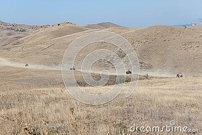 Speedy race through steppe
