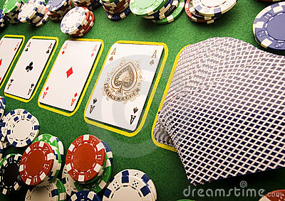 Speelkaarten in casino