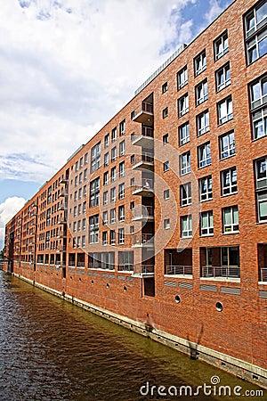 Speicherstadt warehouse district in Hamburg