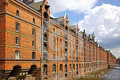 Speicherstadt warehouse district in Hamburg