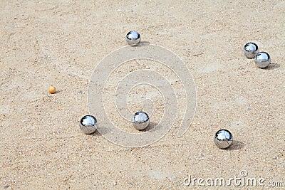 Spel van jeu DE boule, het Franse balspel van A
