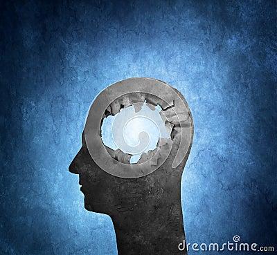 Spela golfboll i hål i huvudet