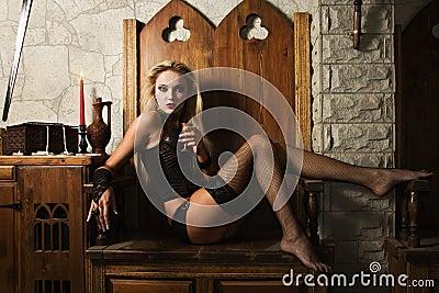 Spela vamp kvinnan