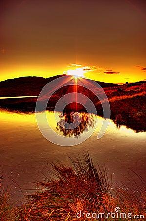Free Spelga Dam Sunset Stock Images - 7029084