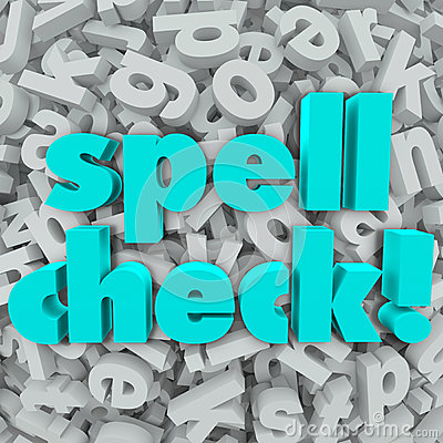 Spell Check Letter Background Correct Spelling Words