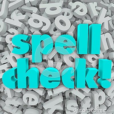Spell Check Letter Background Correct Spelling Words