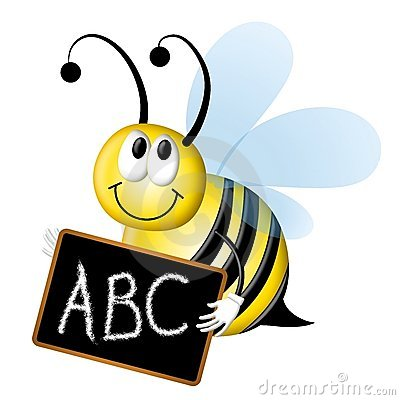 Free Spelling Bee With ABC Chalkboard Stock Images - 4758374
