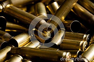 Spent ammo casings