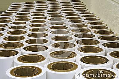 Spent paper rolls