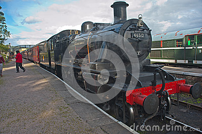 Speyside steam Railway: train at Boat of Garten Editorial Stock Photo
