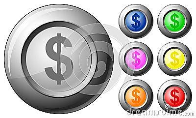 Sphere button dollar