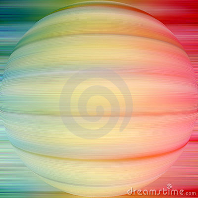 Sphere on a coloured background