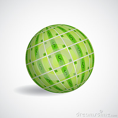 Sphere with dollar