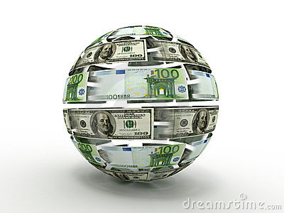 Sphere from dollar and euro