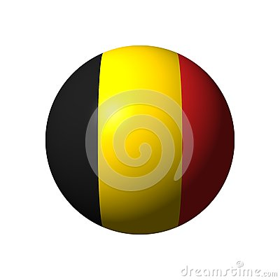Sphere with flag of Belgium