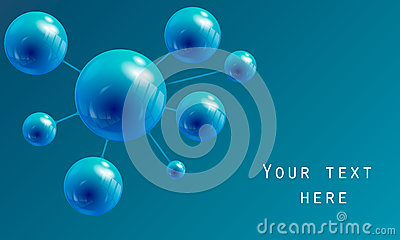 Sphere in the form of a molecule