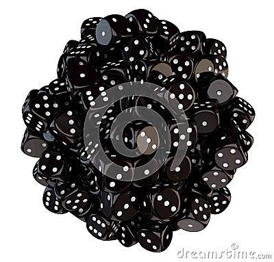 Sphere från svart tärning