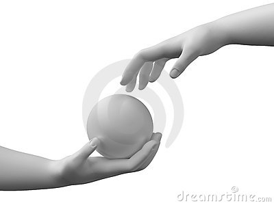 Sphere in the hands