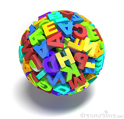 Sphere of letters