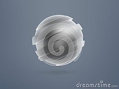 Sphere model sliced