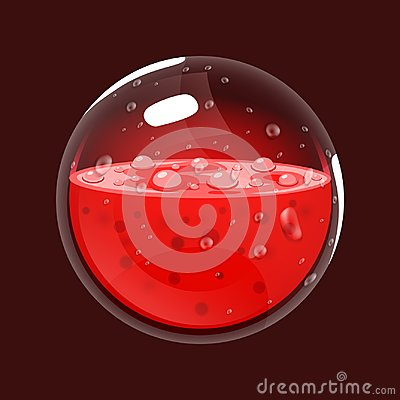 Free Sphere Of Blood. Game Icon Of Magic Orb. Interface For Rpg Or Match3 Game. Blood Or Life. Big Variant. Royalty Free Stock Image - 100044636