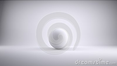Sphere in a white studio