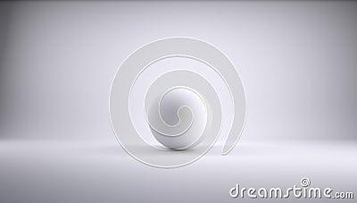 Sphere in a white studio