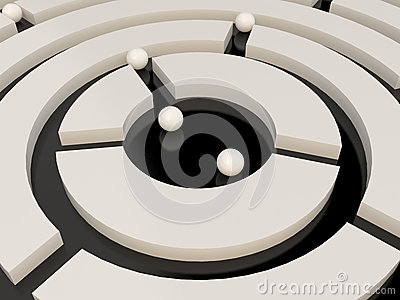 Spheres in an abstract maze