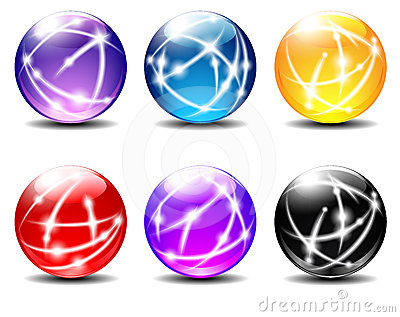 Spheres colored balls