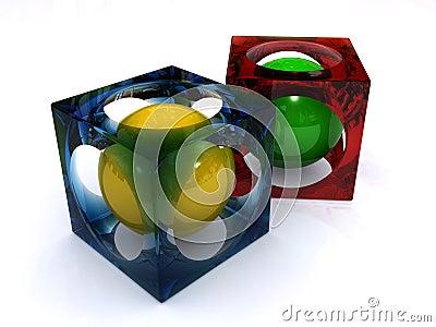 Spheres in cubes