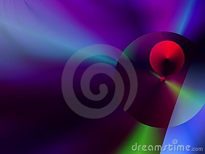 Spheres with a mainly  purple –blue  background