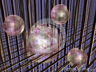 Spheres in matrix.