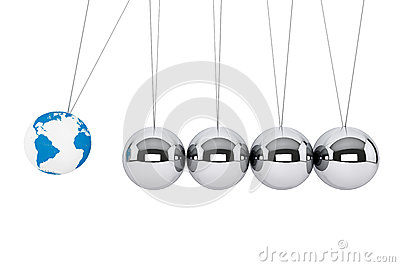 Spheres of Newton with Earth Globe
