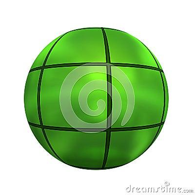 Spherical 3D button