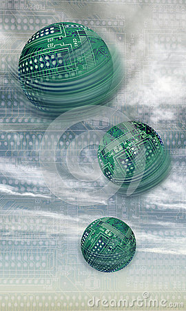 Free Spherical Circuit Boards Royalty Free Stock Photo - 25869975