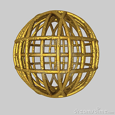 Spherical gold Cage