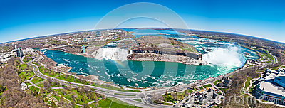 Spherical stitched panorama of the Niagara Falls