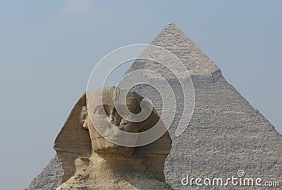 Sphinx and Chephren s Pyramid