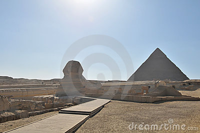 Sphinx And Pyramid Egypt Stock Photography - Image: 6576392